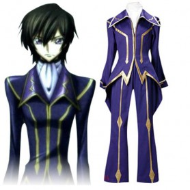 Code Geass Lelouch of the Rebellion Zero Halloween Cosplay Costume