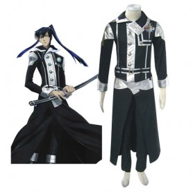 D.Gray Man Kanda Yuu Halloween Cosplay Costume
