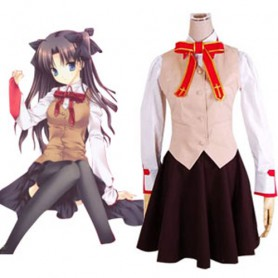 Fate stay night Homurabara Gakuen Girl's Uniform Halloween Cosplay Costume