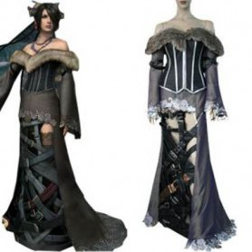 Final Fantasy X Lulu Halloween Cosplay Costume