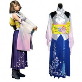 Final Fantasy X Yuna Halloween Cosplay Costume
