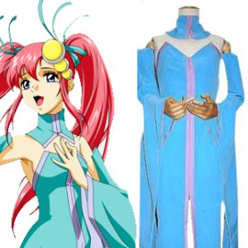 Gundam Mobile Suit SEED Lacus Clyne Singer Version Halloween Cosplay