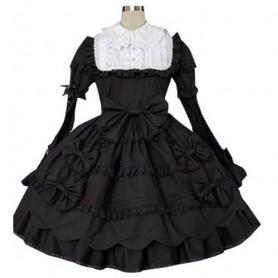 Black And White Classic Lolita Halloween Cosplay Dress