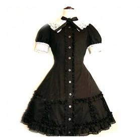 Black Lace Corset Dress Lolita Halloween Cosplay Costume
