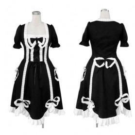 Ideal Top Black Gothic Lolita Halloween Cosplay Costume