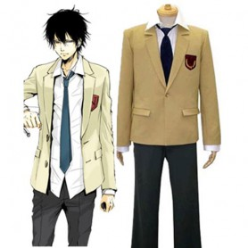 Katekyo Hitman Reborn Namimori High School Uniform Halloween Cosplay