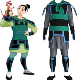 Kingdom Hearts Mulan Halloween Cosplay Costume