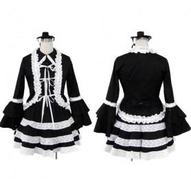 Superior Black Lolita Halloween Cosplay Costume
