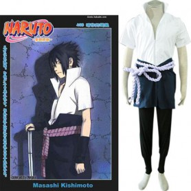 Popular Naruto Shippuden Sasuke Uchiha Men's Halloween Cosplay Costume