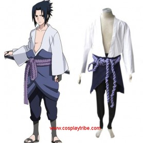 Suitable Naruto Shippuden Sasuke Uchiha Men's Halloween Cosplay Costume