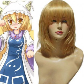 Touhou Project Yakumo Ran Halloween Cosplay Wig