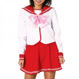 Red Long Sleeves School Uniform