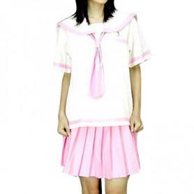 White And Pink School Uniform