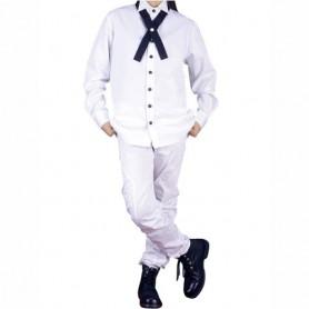 White School Uniform Shirt Halloween Cosplay Costume