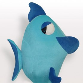 Blue Fish Short Plush Adult Mascot Costume