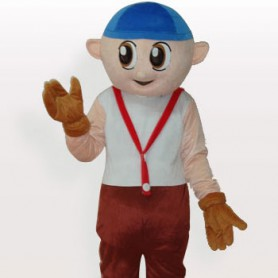 Cheap Boy Short Plush Adult Mascot Costume