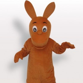 Kangaroo Short Plush Adult Mascot Costume