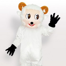 Little Sheep White Adult Mascot Costume