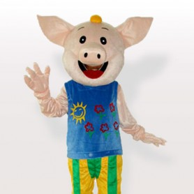 Mr.CoCo Pig Adult Mascot Costume