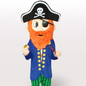 Pirate Short Plush Adult Mascot Costume