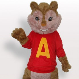 Red Squirrel Plush Adult Mascot Costume