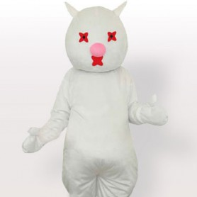 Banny White Lovely Mascot Costume