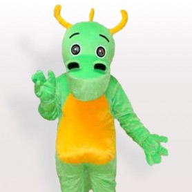 Big Nostril Green Dinosaur Adult Mascot Costume