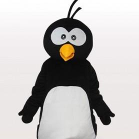 Black Penguin Short Plush Adult Mascot Costume