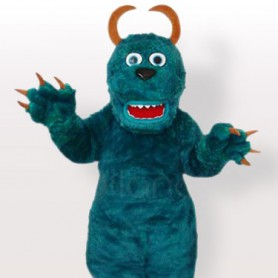 Plush Blue Pongo Adult Mascot Costume