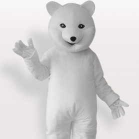 Polar Bear Short Plush Adult Mascot Costume