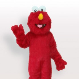 Red Fur Man Adult Mascot Costume