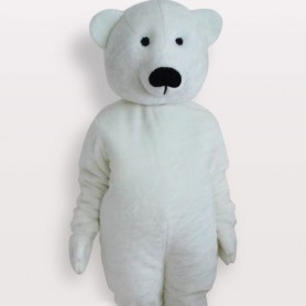 Suitable White Bear Short Plush Adult Mascot Costume