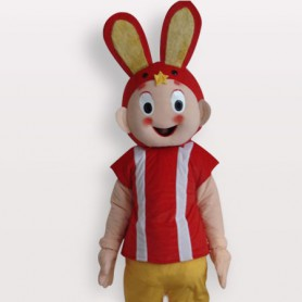 Classic Rabbit Short Plush Adult Mascot Costume