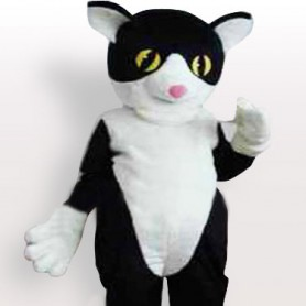 Black Little Cat Adult Mascot Costume