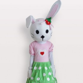 Cheap Rabbit Short Plush Adult Mascot Costume