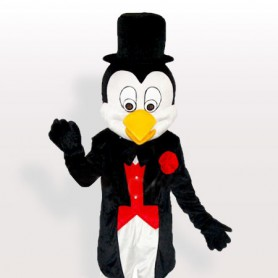 Mr. Penguin in Tuxedo and Bowler Hat Adult Mascot Costume