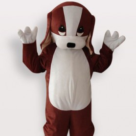 Perfect Dog Short Plush Adult Mascot Costume