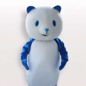 Blue Pandar Short Plush Adult Mascot Costume