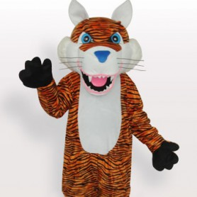 Cheap Tiger Short Plush Adult Mascot Costume