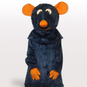 Cool Black Mouse Plush Adult Mascot Costume