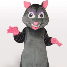 Ideal Black Mouse Plush Adult Mascot Costume