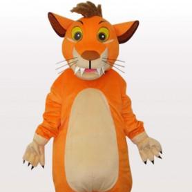 Perfect Lion Short Plush Adult Mascot Costume