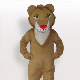 Top Lion Short Plush Adult Mascot Costume