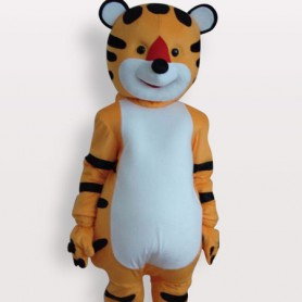 Top Tiger Short Plush Adult Mascot Costume