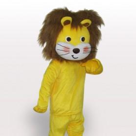 Yellow Lion Short Plush Adult Mascot Costume
