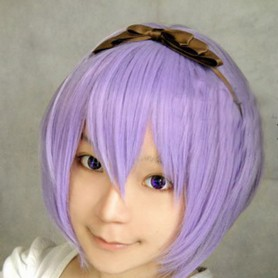 StarrySky blue medium-length wig