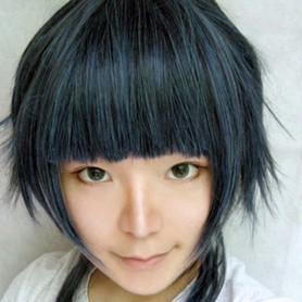StarrySky peacock blue short wig