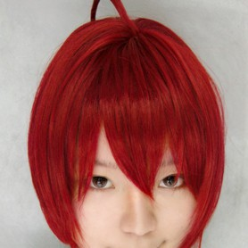 StarrySky red medium-length wig
