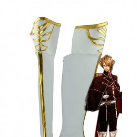 Amnesia Cosplay Toma White & Gold Cosplay Boots