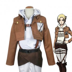 Attack on Titan Annie Leonhardt Cosplay Costume Trainees Squad Uniform